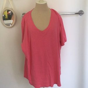Laura Scott Hot Pink Plus Size 3X T-Shirt